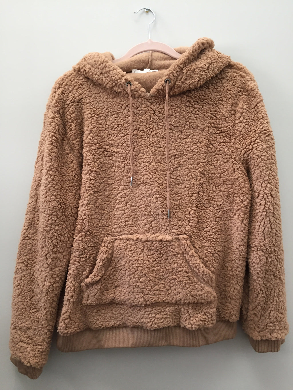 Devon Teddy Bear Hoodie- Camel - Sweatshirt - The Valley Boutique - Canada Online Shopping