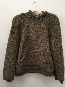 Devon Teddy Bear Hoodie- Olive - Sweatshirt - The Valley Boutique - Canada Online Shopping