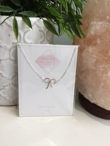 Magnolia Giroux Silver Bow Necklace - Jewellery - The Valley Boutique - Canada Online Shopping