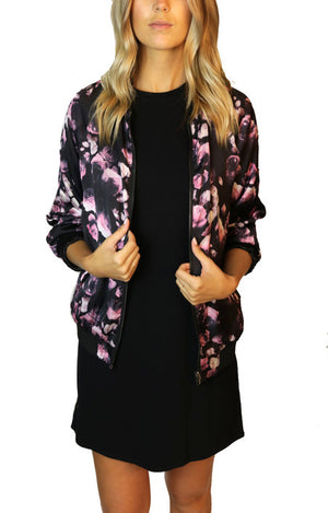 PRIV Revolve Reversible Floral Bomber Jacket - Coat - The Valley Boutique - Canada Online Shopping