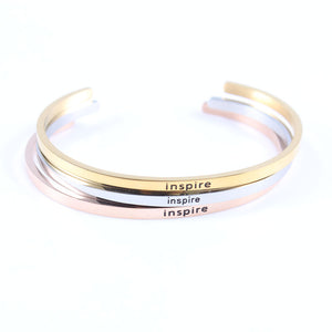 Inspirational Bangle Mantra Bracelets