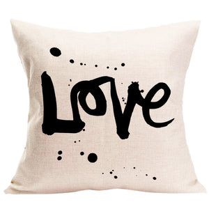 LOVE Pillowcase with Zipper Closure