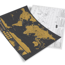 Deluxe Edition World Map - A Layer Visual Travel Journal