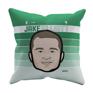 Jake Elliott Throw Pillow | 500 LEVEL