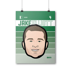 Jake Elliott Poster | 500 LEVEL