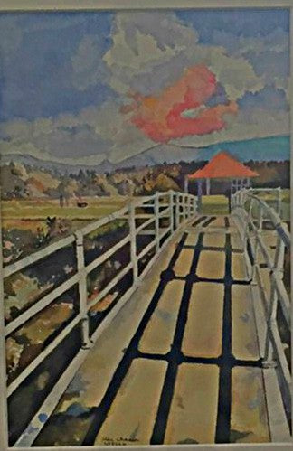 Bretton Woods Bridge watercolor painting