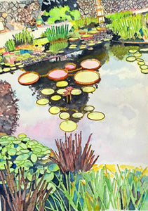 Lily Pond watercolor painting