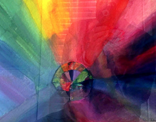 Prism watercolor painting