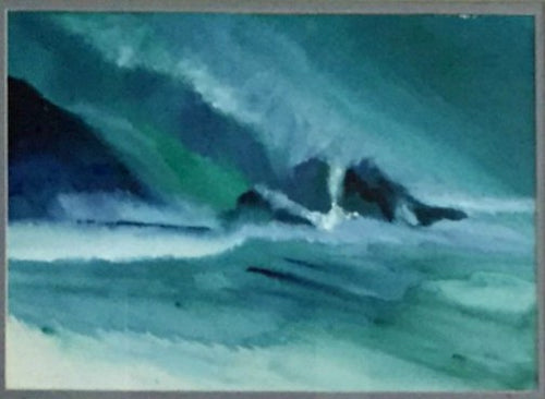 Stormy Weather watercolor painting