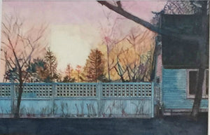 Fading Light watercolor painting