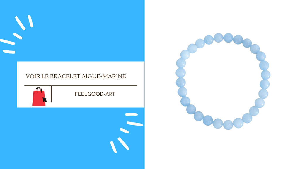 Bracelet Aigue-Marine 6 mm