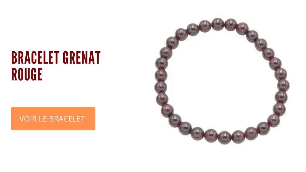 Bracelet Grenat rouge 6 mm