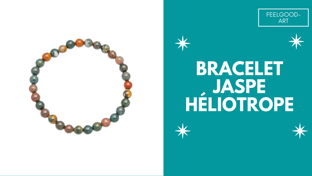 Bracelet Jaspe Héliotrope Purification