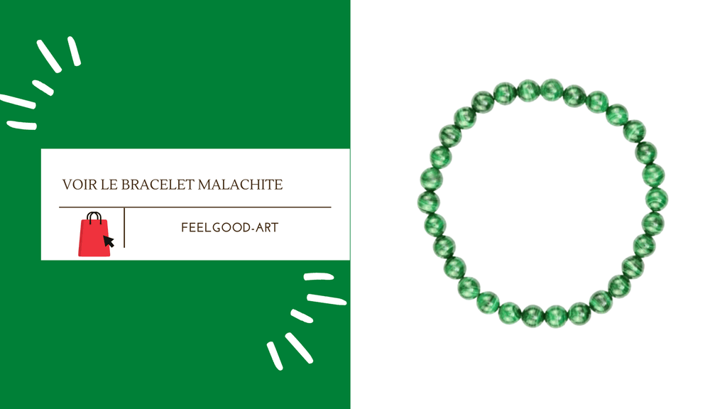 Bracelet Malachite Naturelle