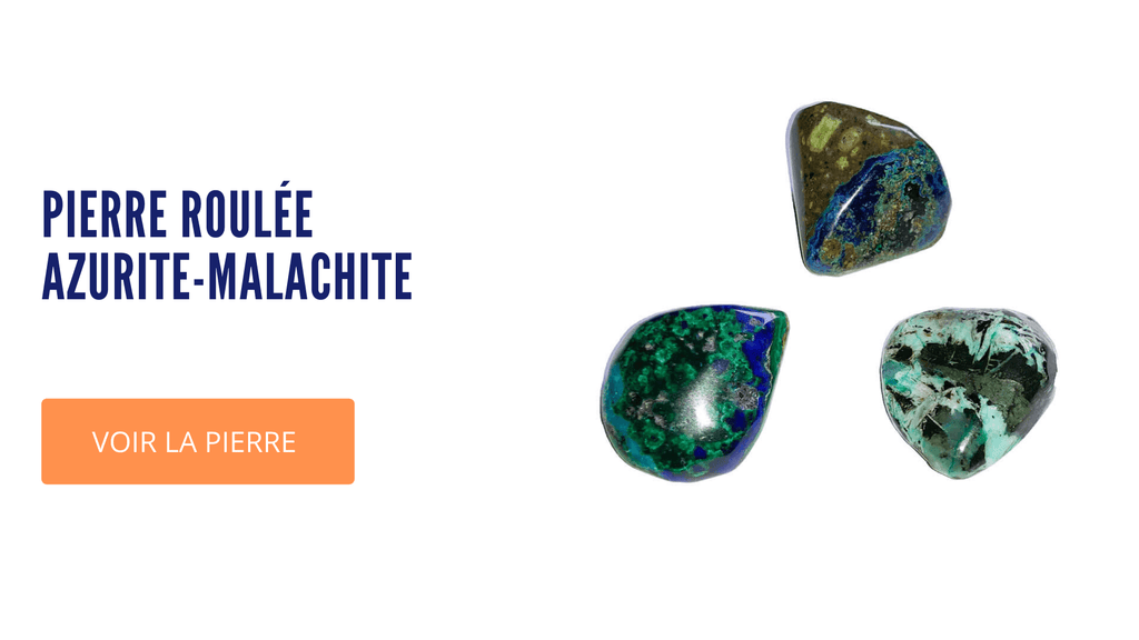 Pierre Azurite-Malachite