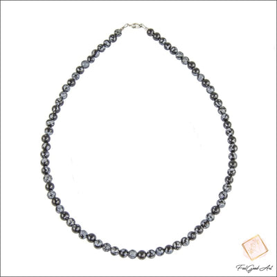 Collier Obsidienne neige