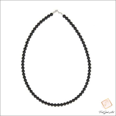Collier Agate anoire