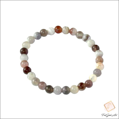 Bracelets Pierres Naturelles <br> Bracelet Rose Agate Botswana - Feelgood-art Sans fermoir / Non / 18 cm FeelGood-Art