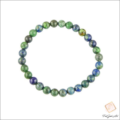 Bracelet Pierre Naturelle en perles de Chrysocolle - Feelgood-art