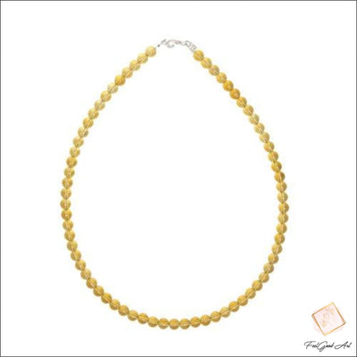 Collier Pierre naturelle citrine