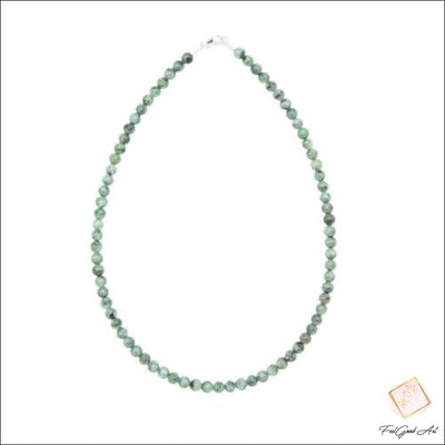 Collier Pierre Naturelle Émeraude