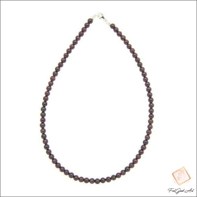 Collier Pierre Naturelle Grenat rouge
