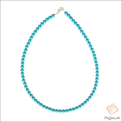 Collier Pierre Naturelle howlite bleue
