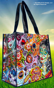 "Women's ""Day of The Dead"" all Purpose Reusable Bag"