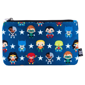 Justice League Chibi Print Coin/Cosmetic Bag