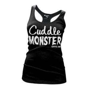 "Women's ""Cuddle Monster"" Racer Back Tank Top"