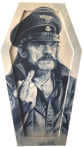LEMMY COFFIN WOOD PRINT