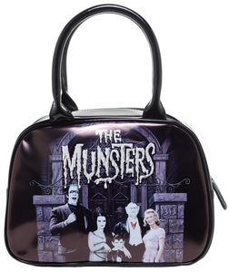 MUNSTERS FAMILY COACH BOWLER HANDBAG