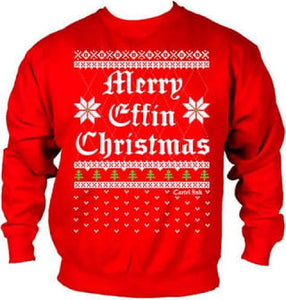 Merry Effin Christmas Crew Neck Sweat Shirt