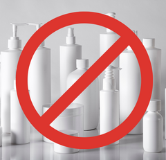 Say no to plastic containers for cleaning and hygiene products