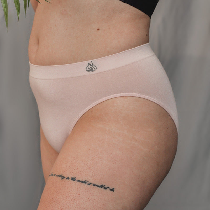 Pink seamless sustainable high waist Bikini available in all sizes XS/MD/LG/XL/2X/3XL New york