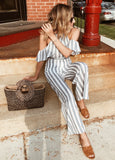Center Of Attention Stripe Jumpsuit