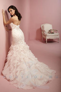 Rose Pink Wedding Gown