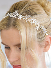 Designer Handmade Bridal Headband with Dainty Floral Vines