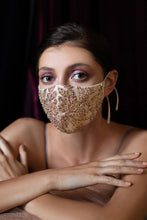 Gold Floral Antoinette Fashion Mask