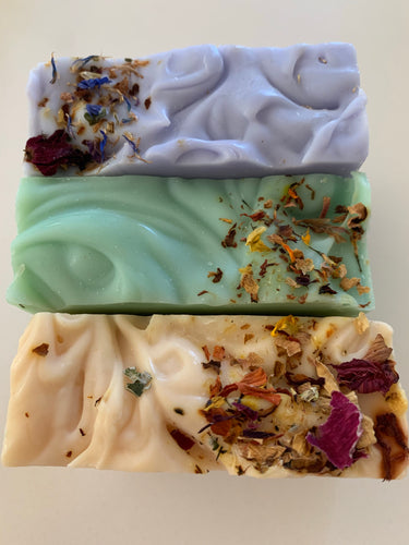 French Lavender, Ocean Mint & Lemon Eucalyptus Home Made Soaps by Fresh Scrubs  pack of 3