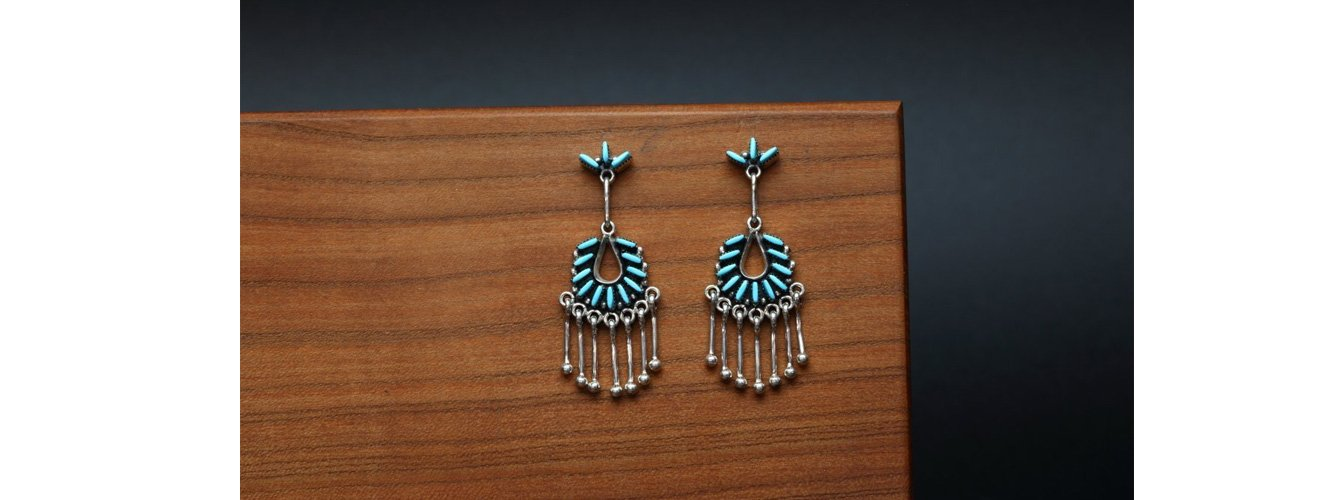 Zuni Native American Earrings