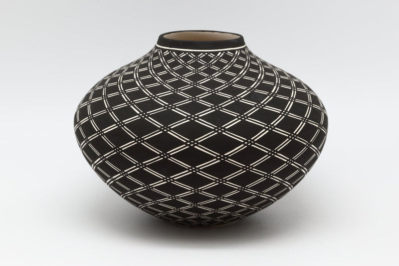Acoma Geometric Pot-Lema's Kokopelli Gallery