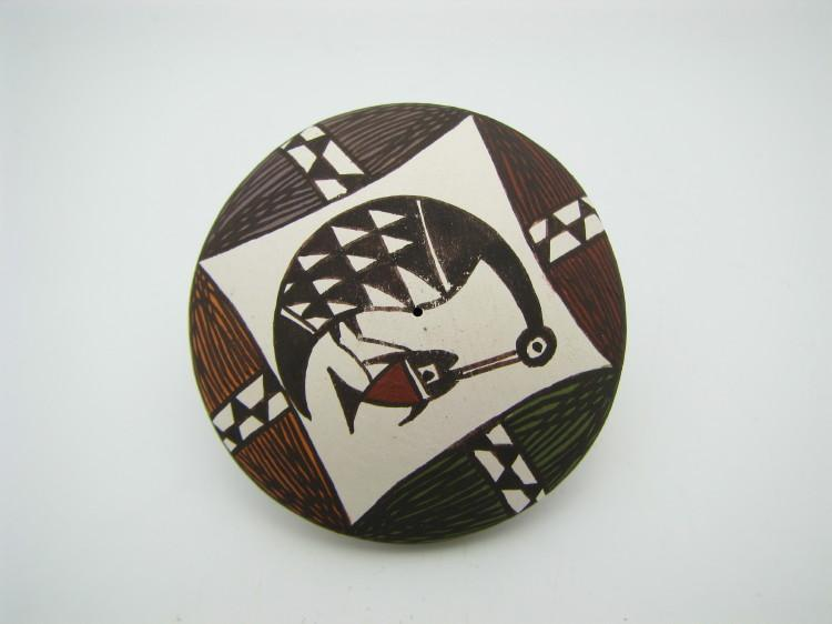 Acoma King Fisher Seed Pot-Lema's Kokopelli Gallery