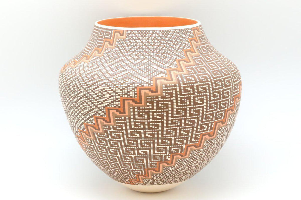 Acoma Polychrome Geometric Pot-Lema's Kokopelli Gallery