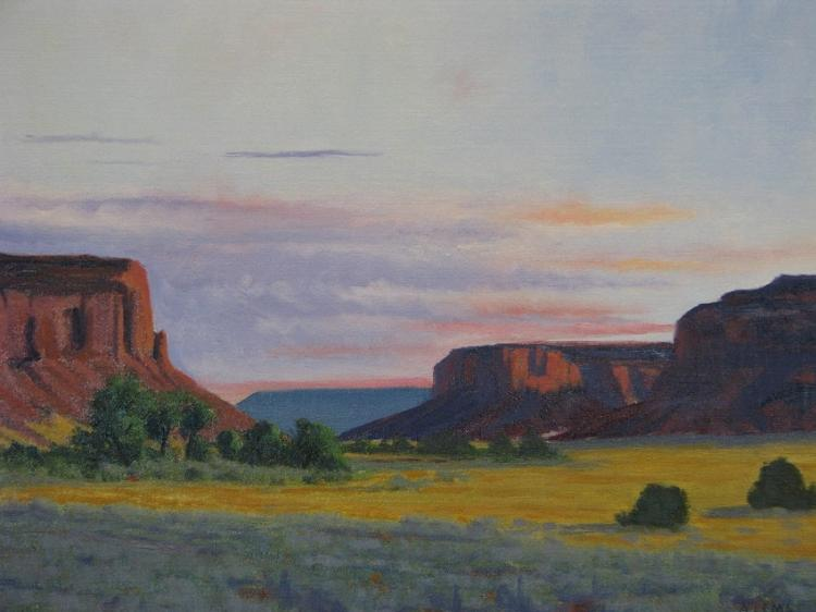 Canyonlands Oil Painting on Canvas-Lema's Kokopelli Gallery