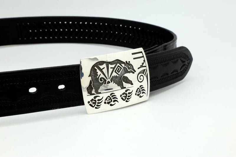 Hopi Bear and Weather Belt Buckle-Lema's Kokopelli Gallery