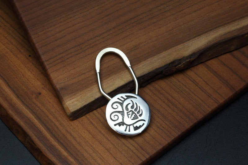 Hopi Bear Claw and Warrior Marks Key Ring-Lema's Kokopelli Gallery