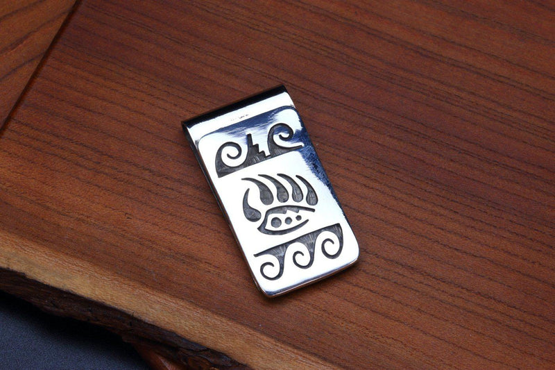 Hopi Bear Claw Money Clip-Lema's Kokopelli Gallery