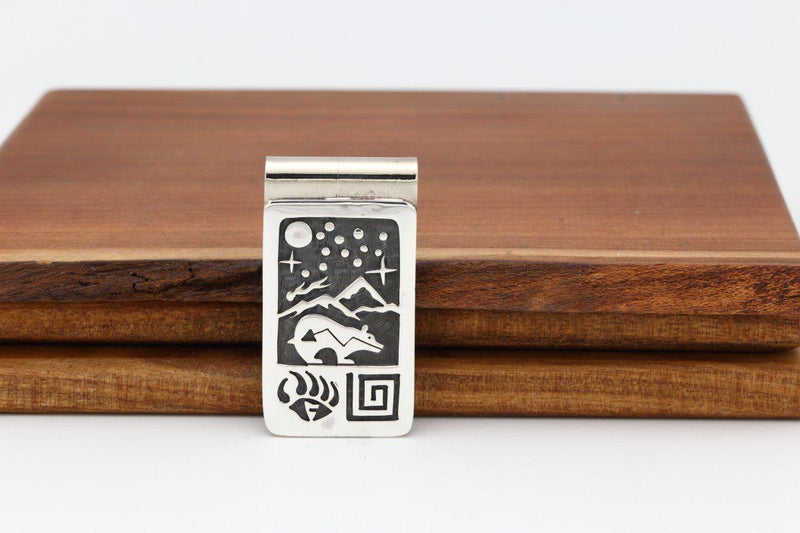 Hopi Bear Night Sky Money Clip-Lema's Kokopelli Gallery