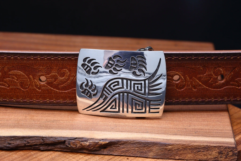 Hopi Bear Paw Small Belt Buckle-Lema's Kokopelli Gallery